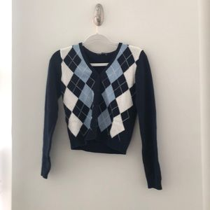 Brandy argyle sweater